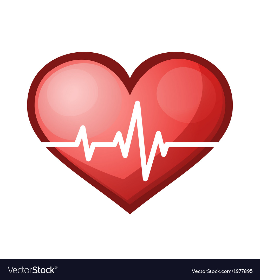 Heart beat rate icon healthcare vector