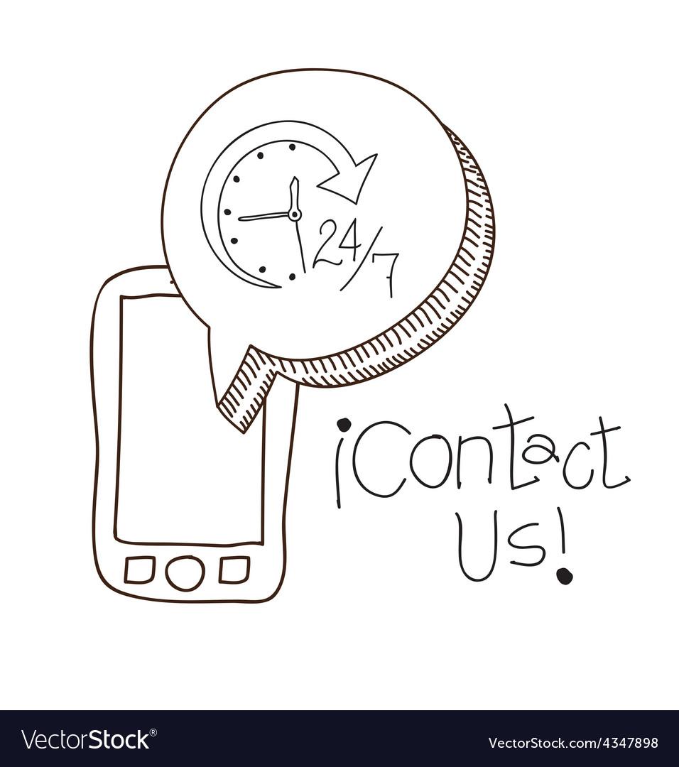 Contact us design vector