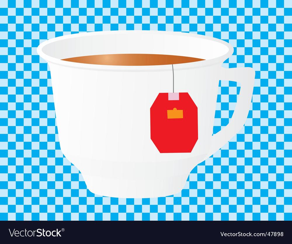 Morning cup of black tea vector