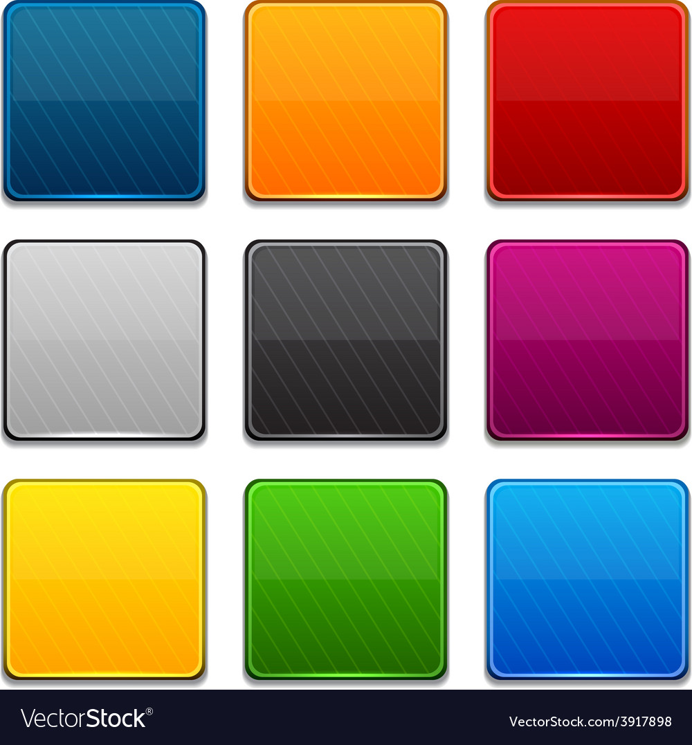 Square color icons vector