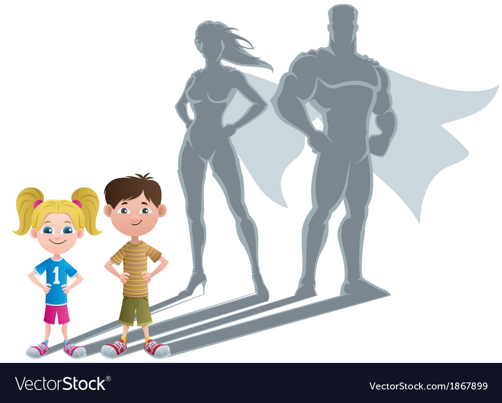 Kids superhero concept 2 vector