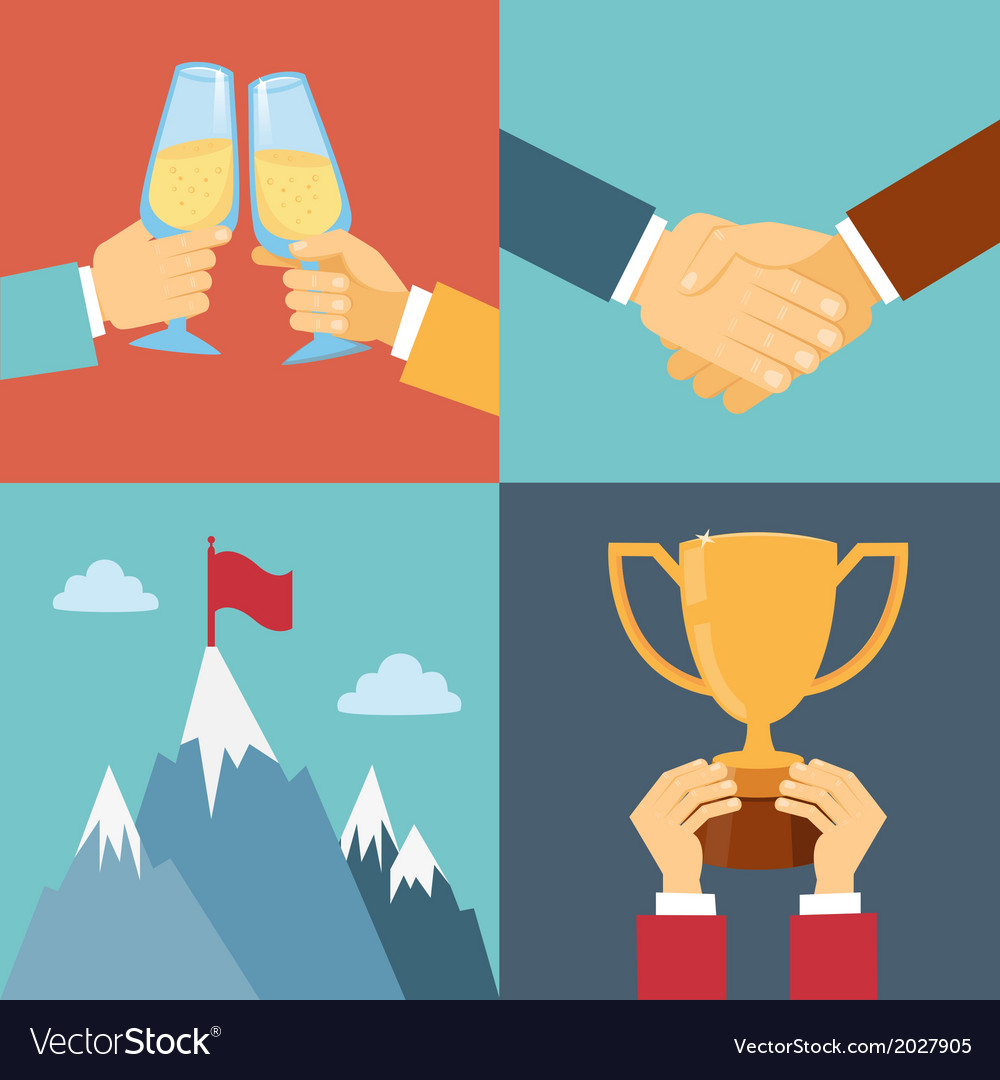 Business success leadership and win vector