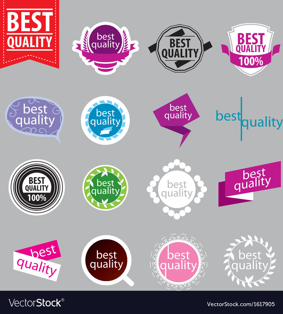 Collection of logos of better quality vector