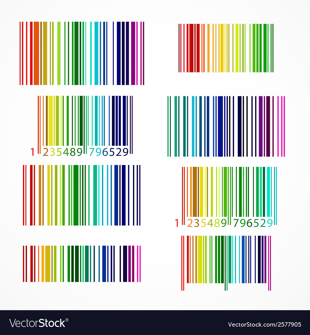 Rainbow colored barcode vector