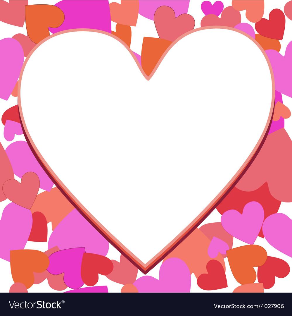 Frame heart vector
