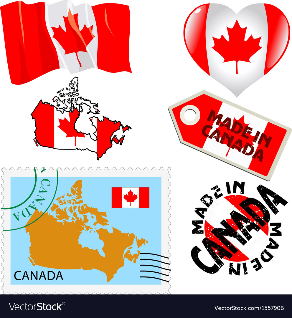 National colours of canada vector