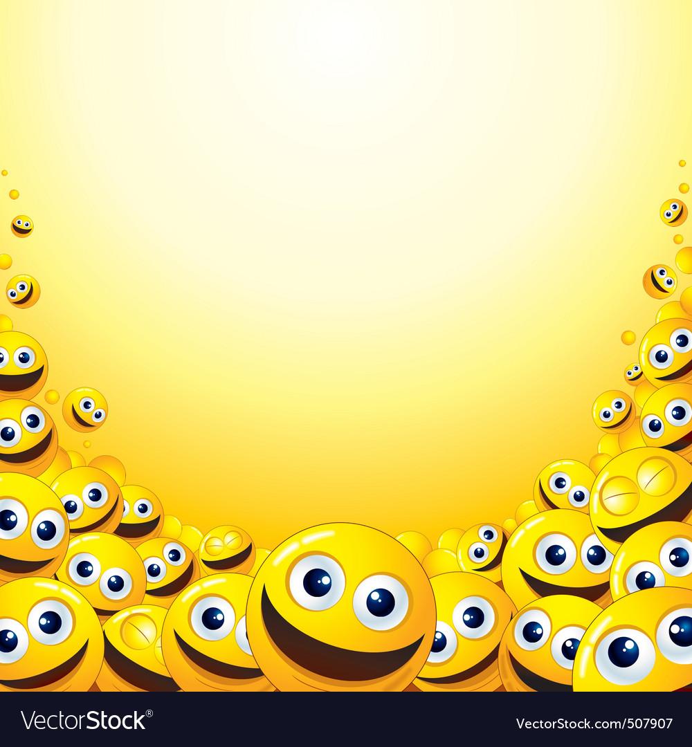 Smiley backdrop vector