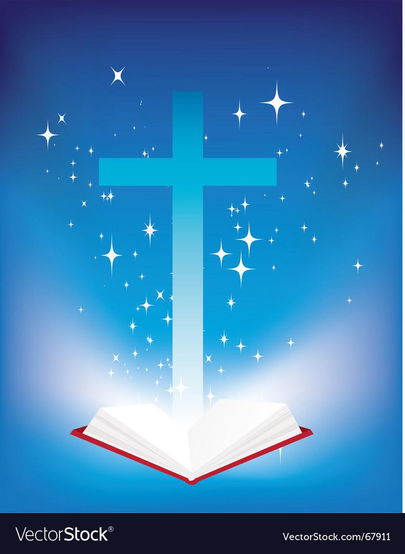 Bible light book vector