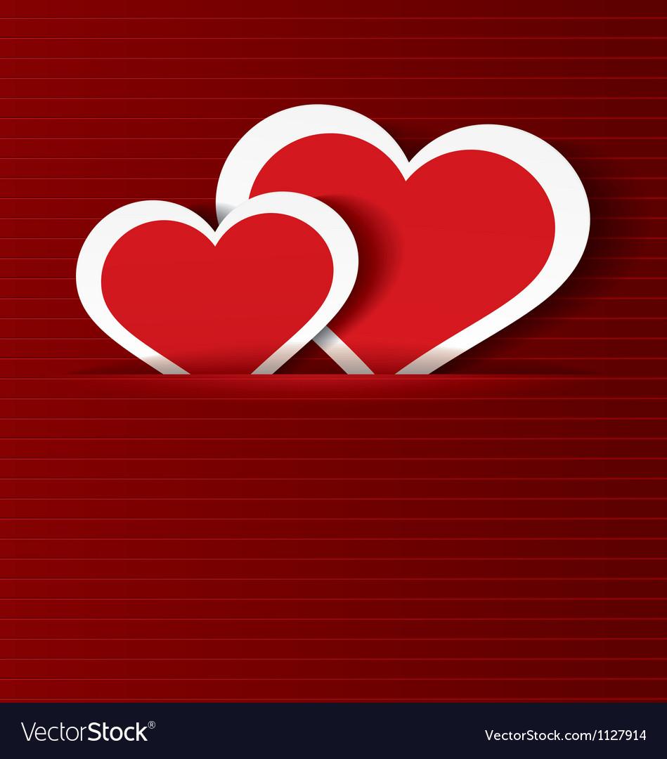 Paper hearts in pocket textured vector