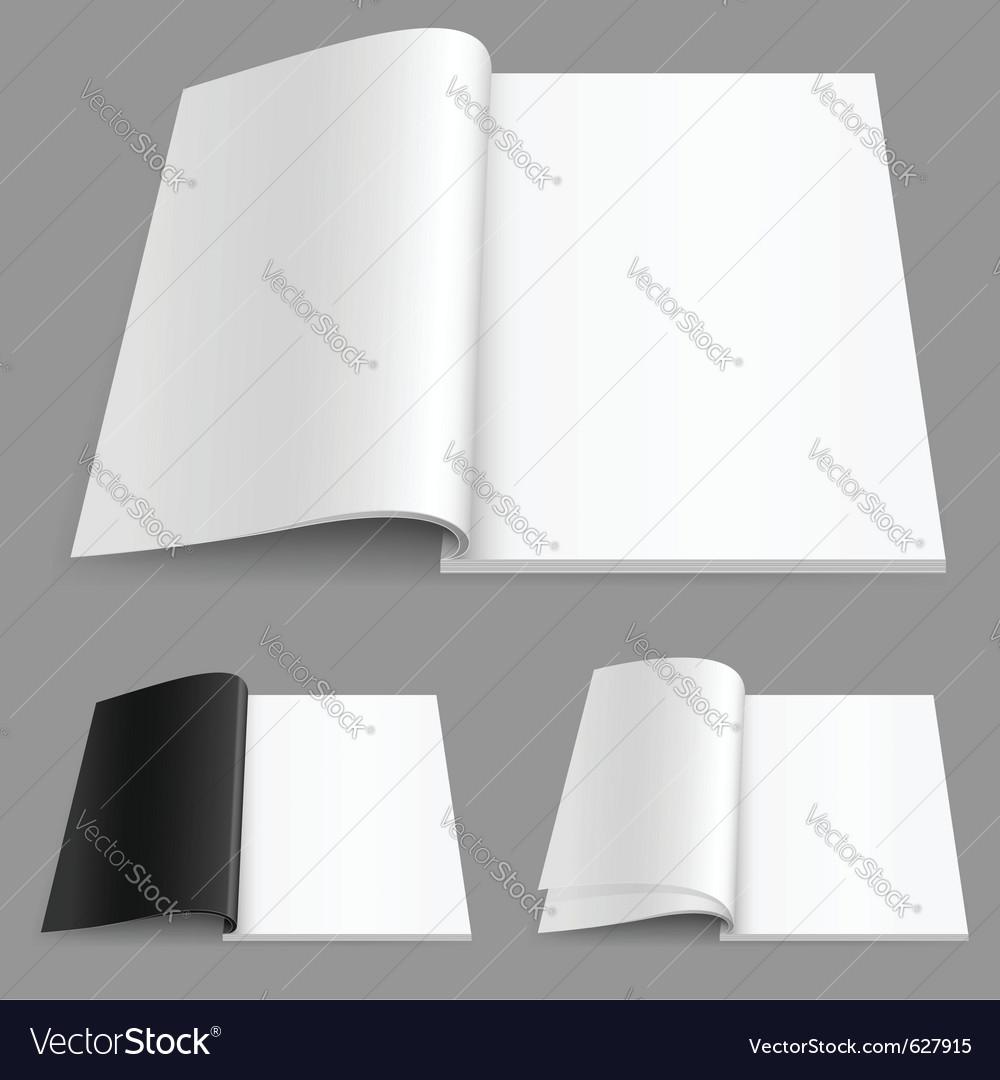 Realistic magazine vector