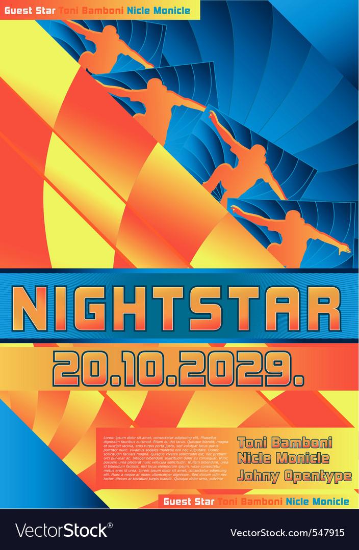 Sport event poster design skateboarding vector