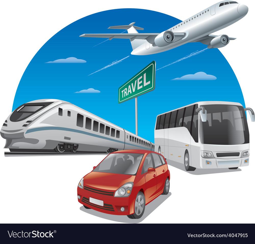 Travel transport vector