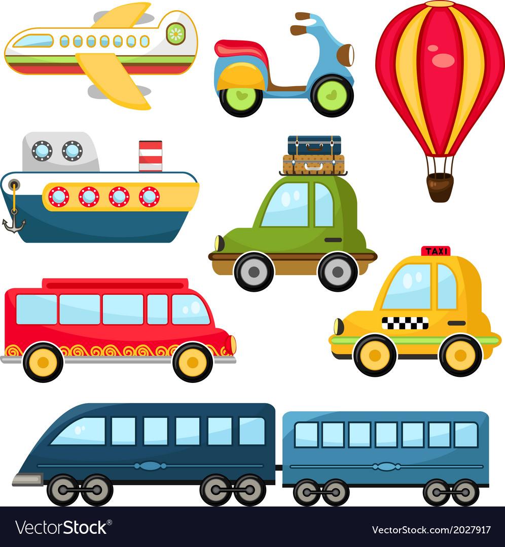 Cute transportation vector