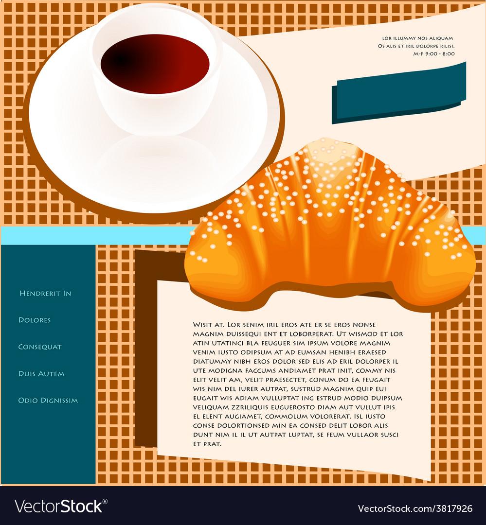 Coffee site templates vector