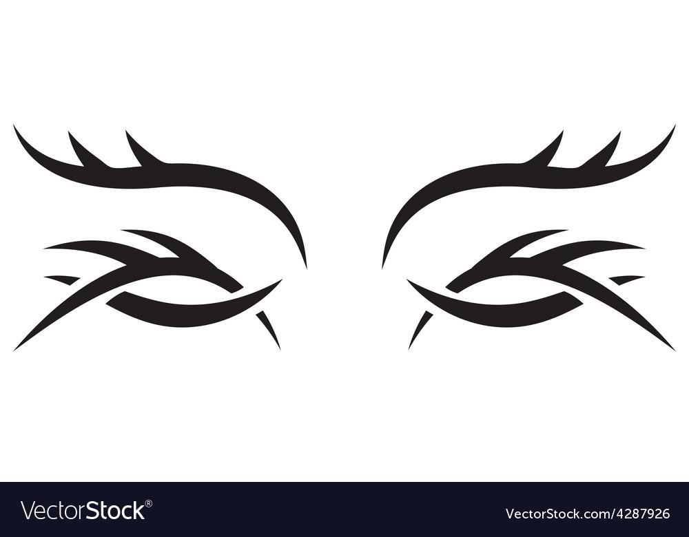 Gothic pattern eyes vector