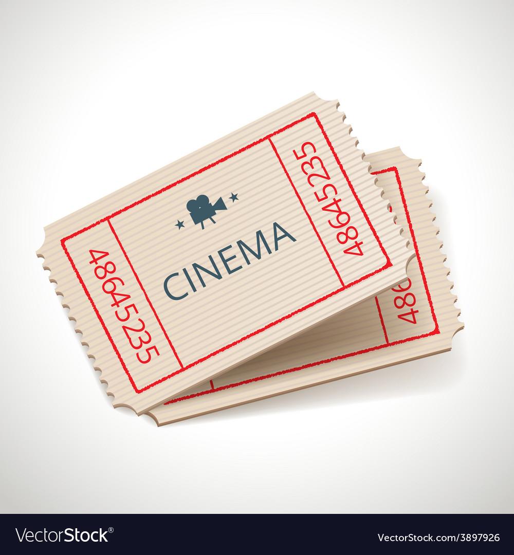 Retro tickets vector