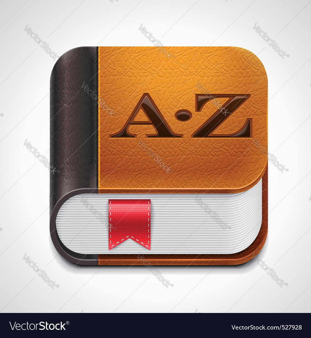 Book with bookmark xxl icon vector
