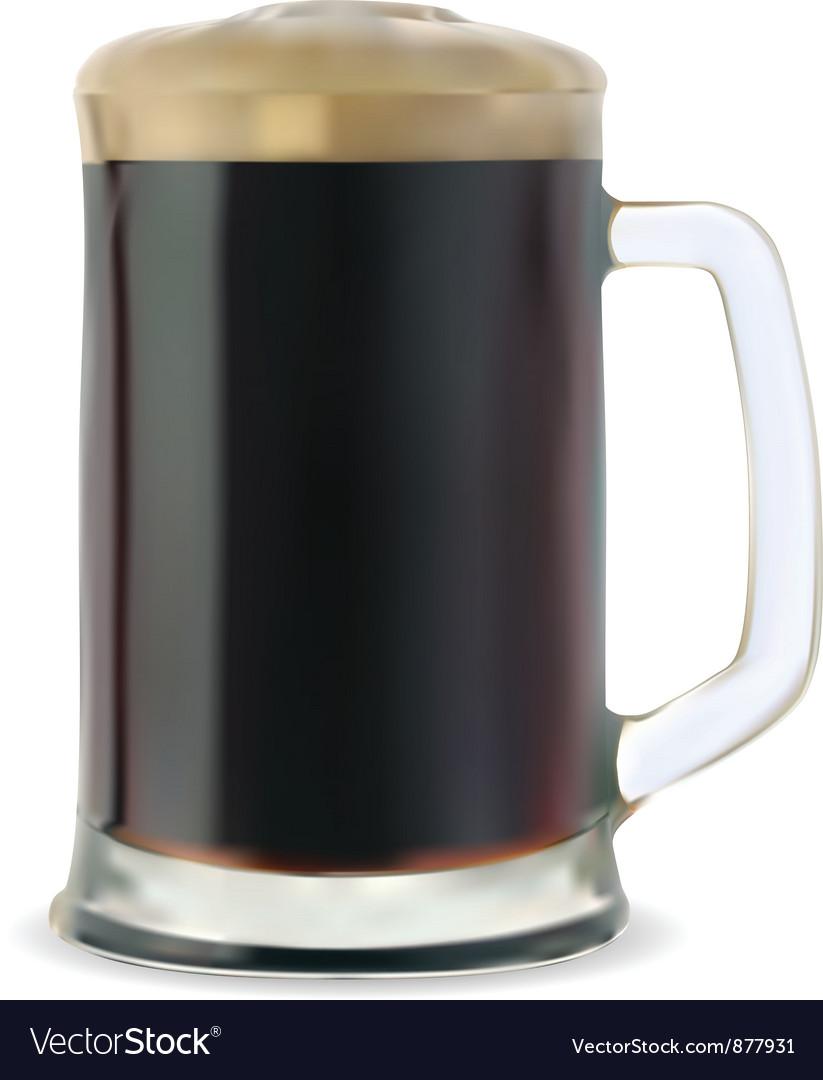 Dark beer vector