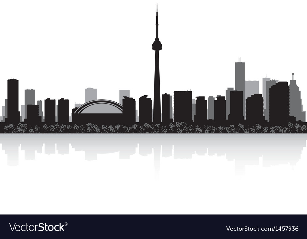 Toronto canada city skyline silhouette vector