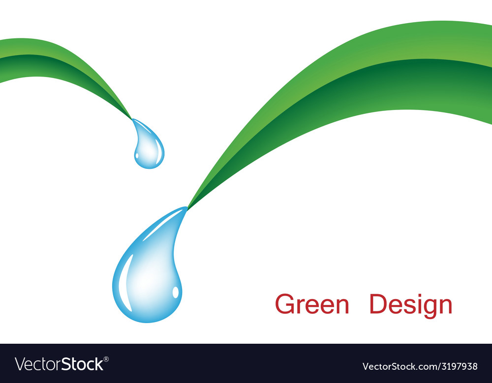Grass with water drops vector