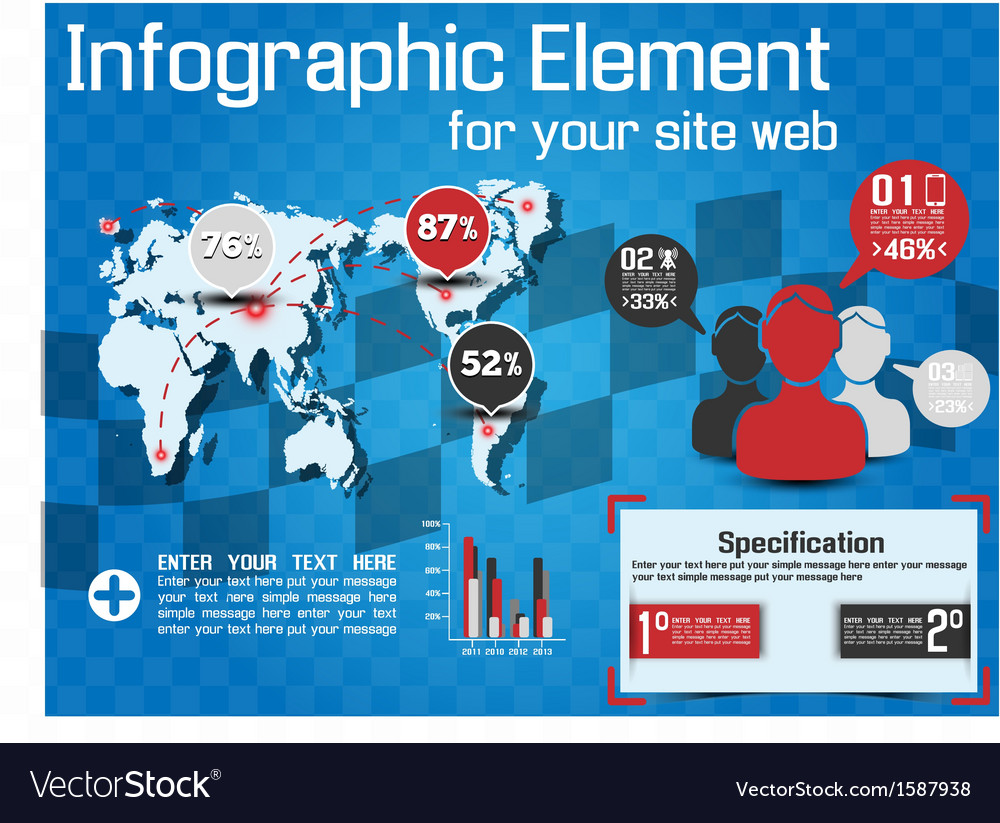 Infographic modern style web element vector