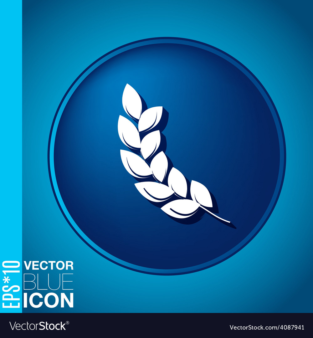 Abstract wheat spike ears icon vector