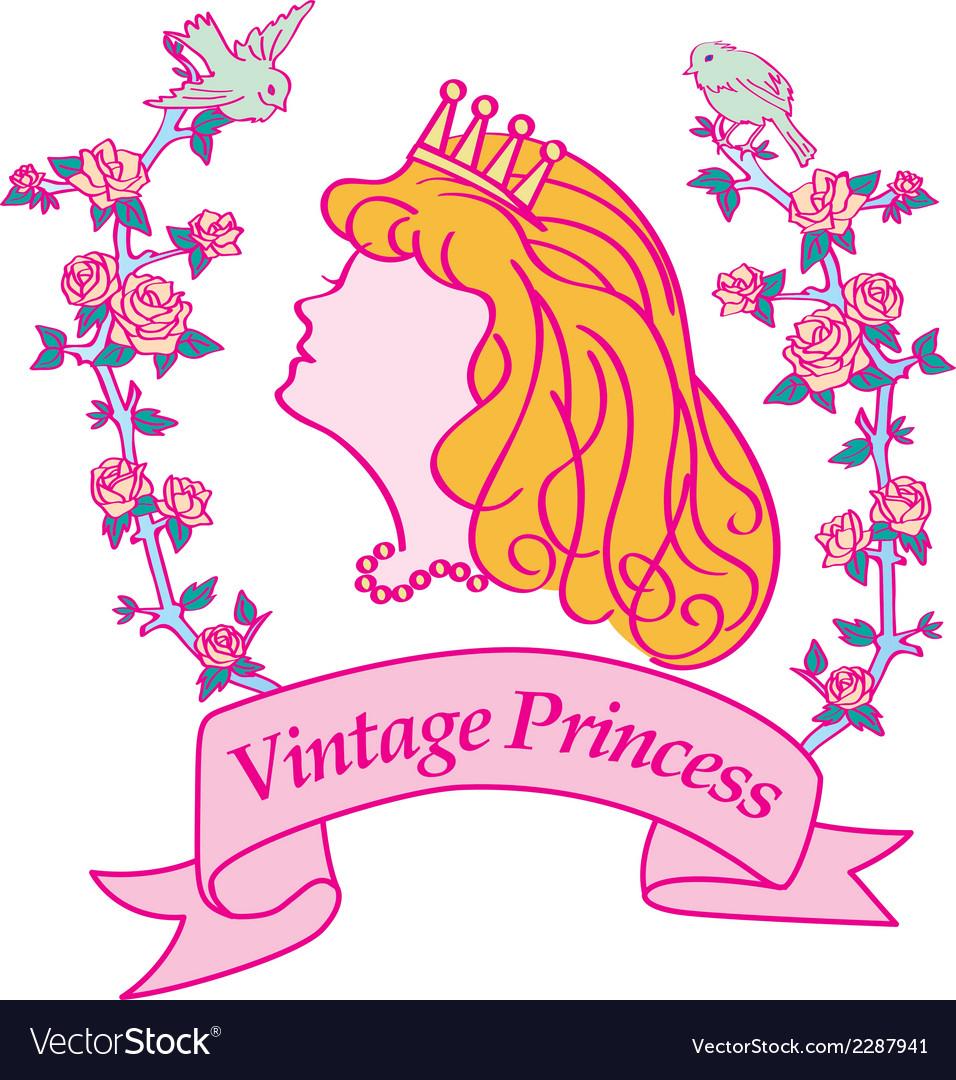Princess silhouette vector