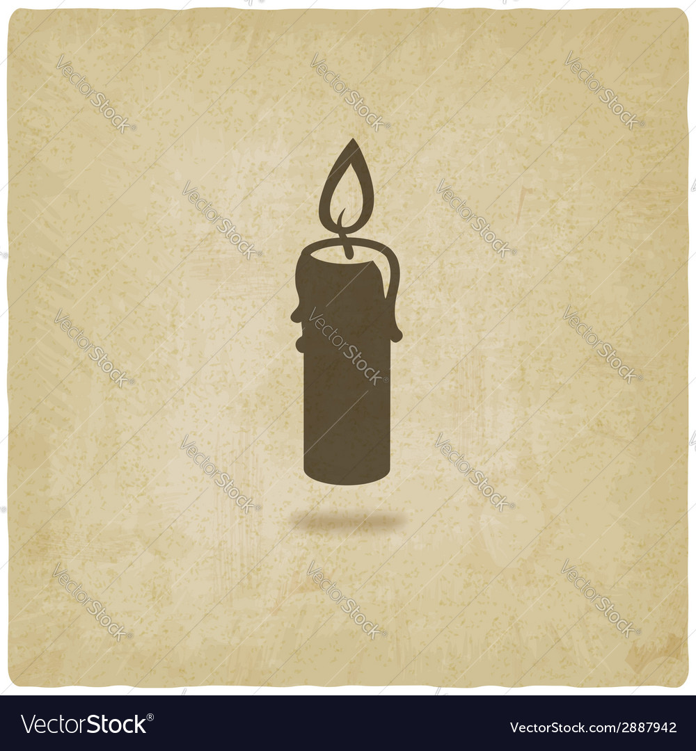 Candle old background vector