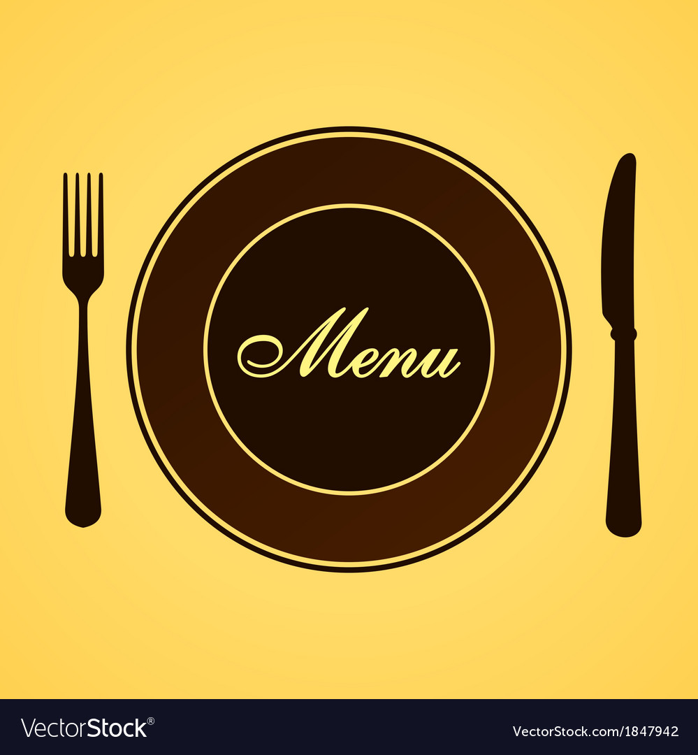Menu for lunch and dinner vector