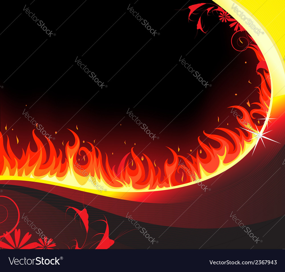 Fiery background vector