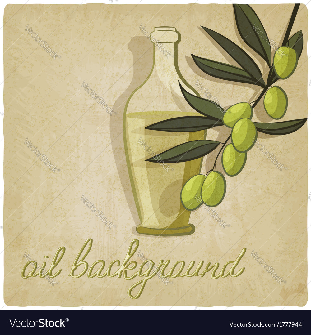 Olive branch background vector