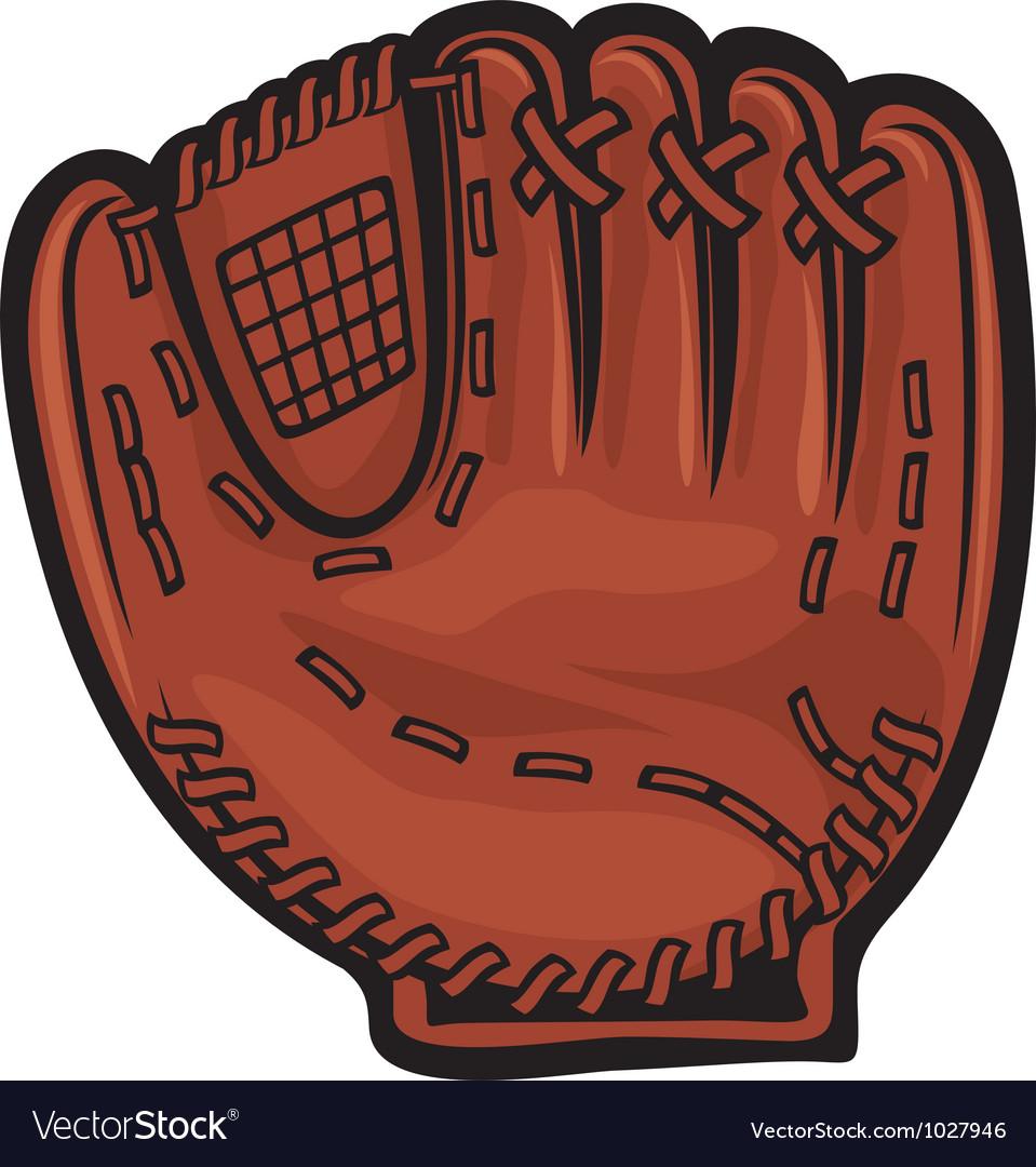 Baseball glove vector