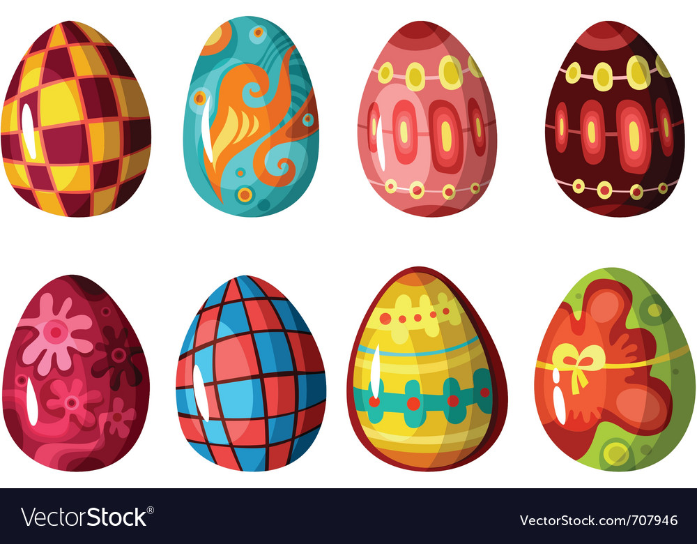 Egg set vector