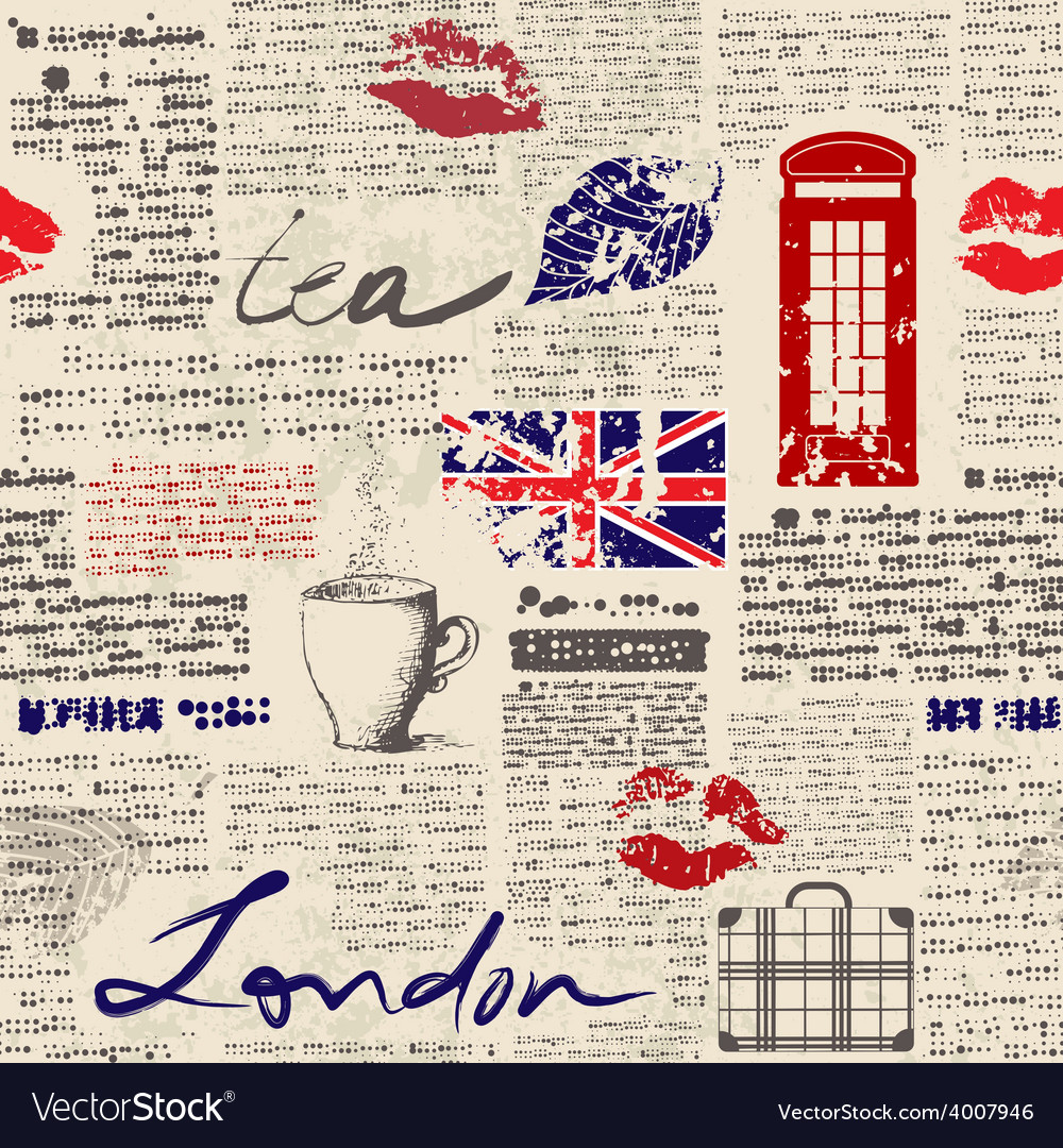 Newspaper london vector