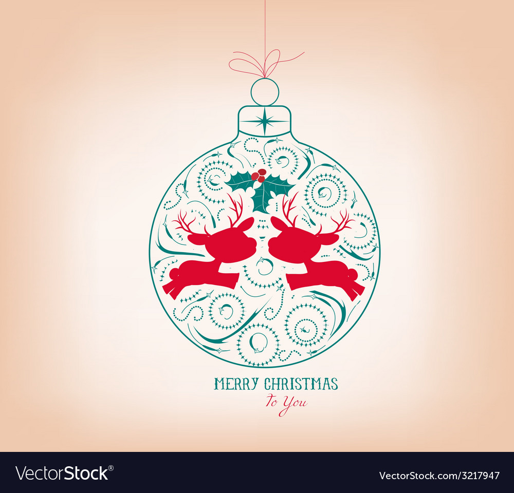 Merry christmas ornament vector