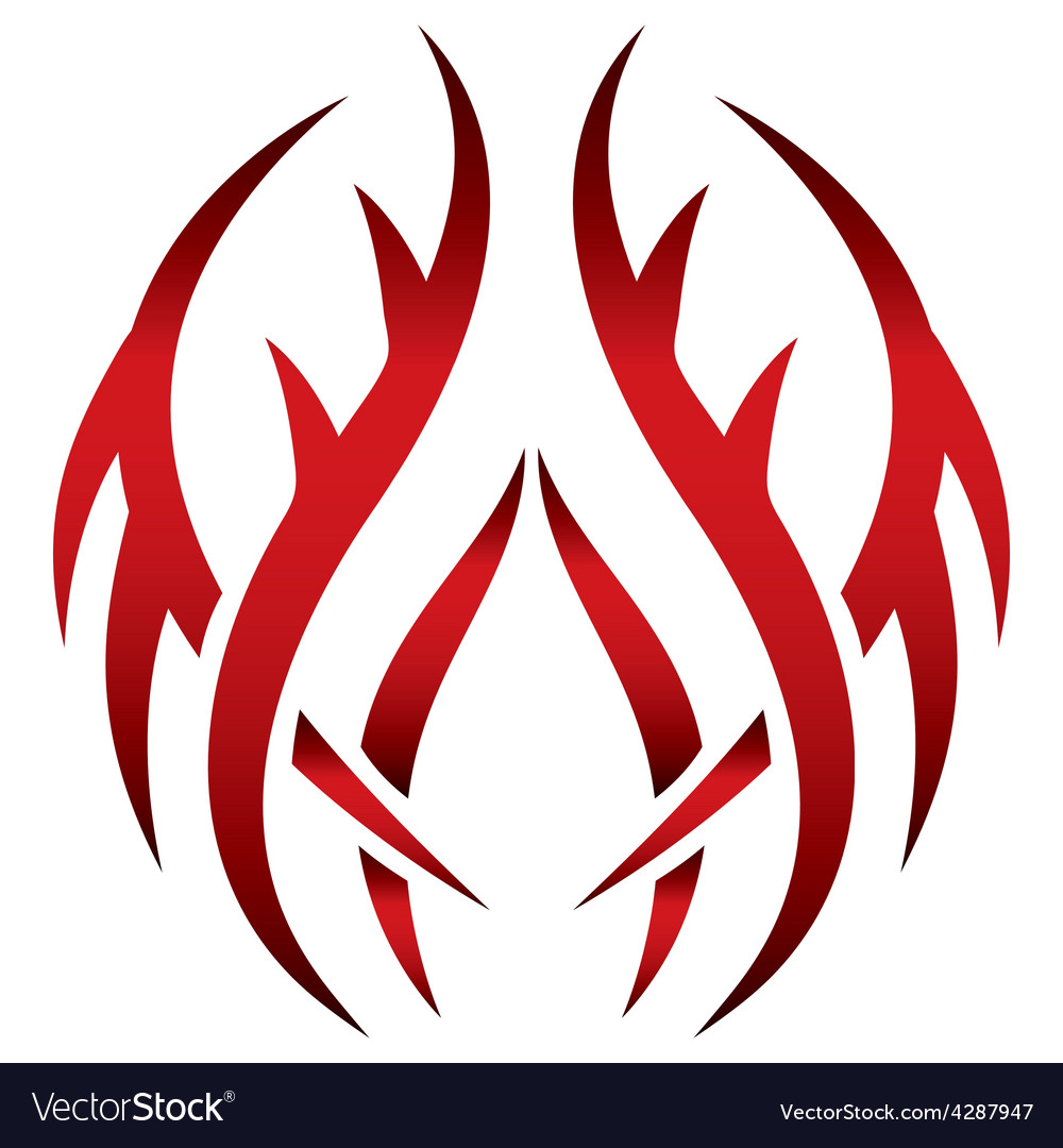 Tribal red pattern vector