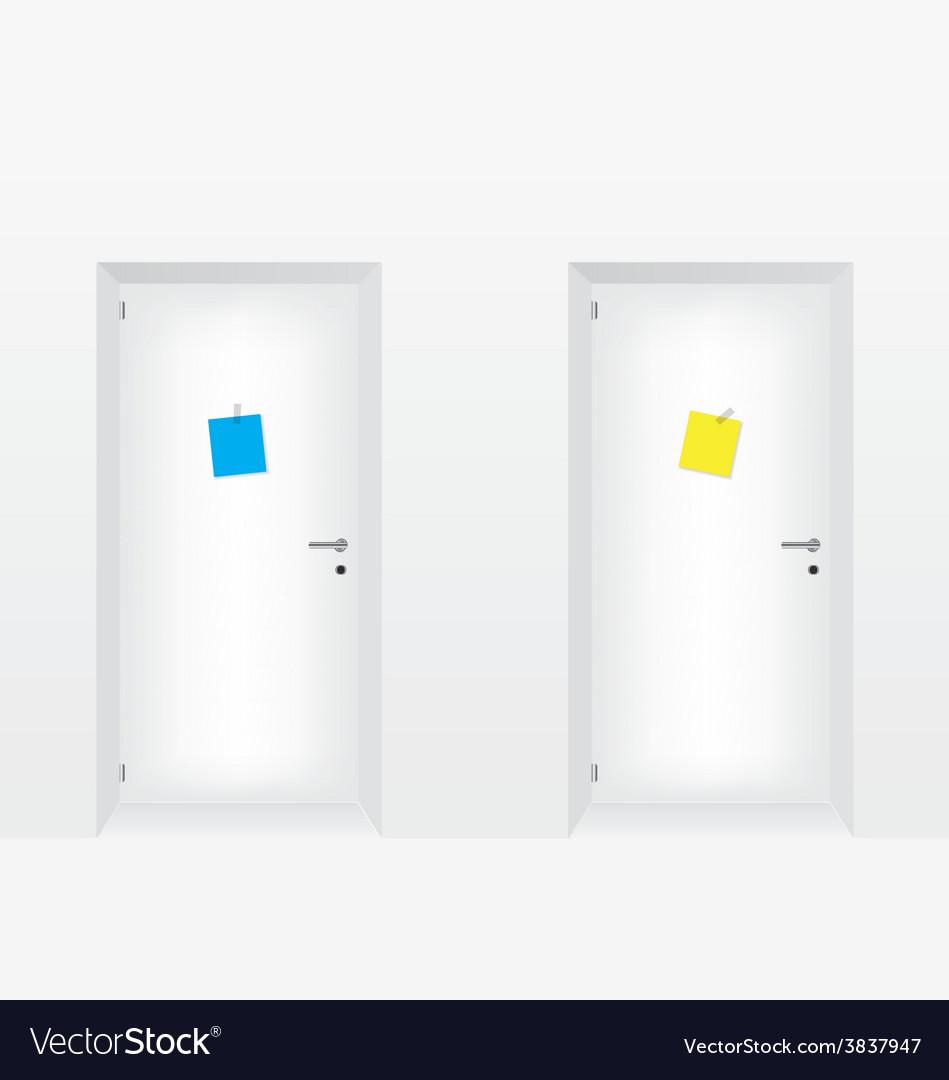 White doors vector