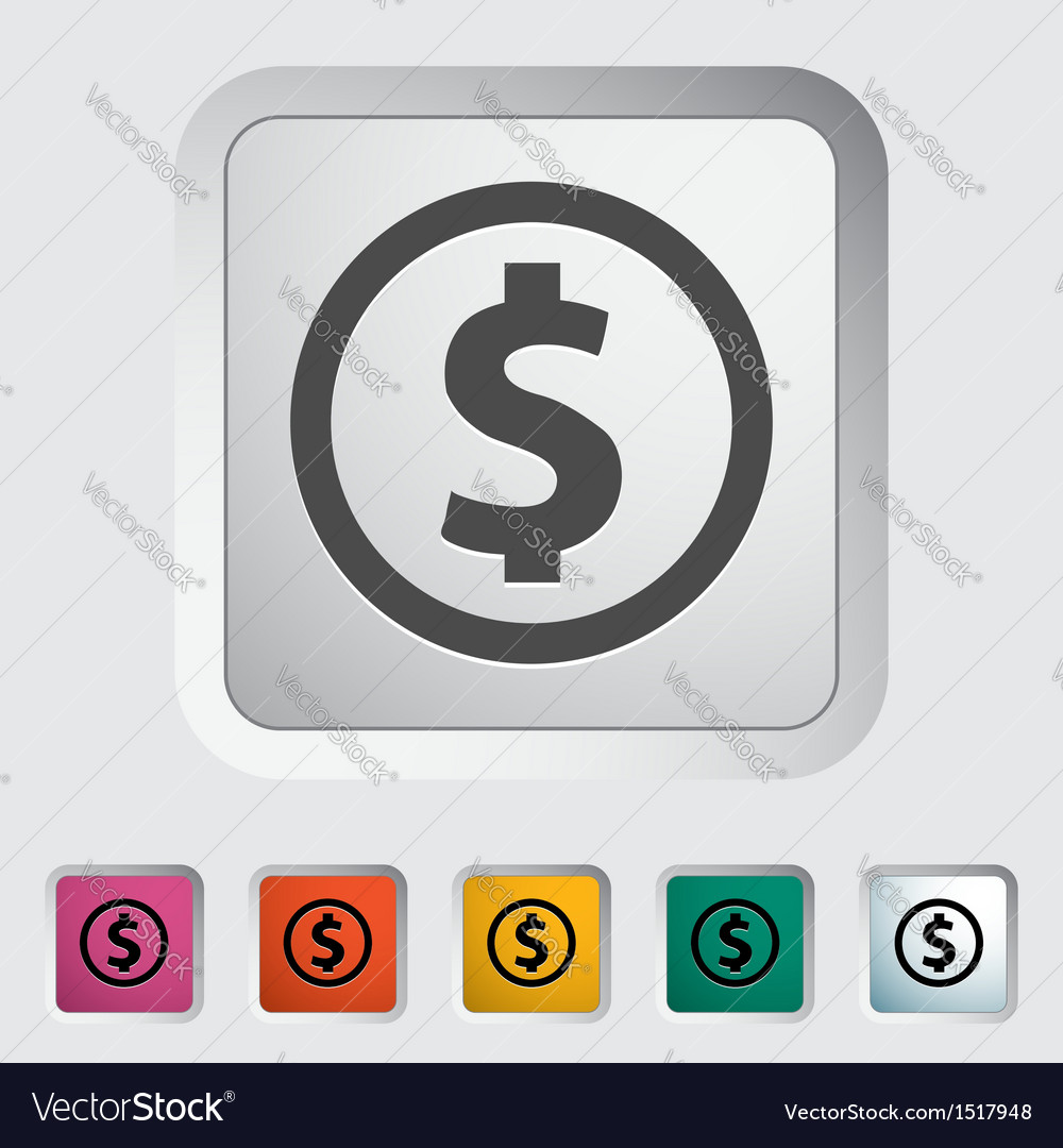 Dollar coin vector
