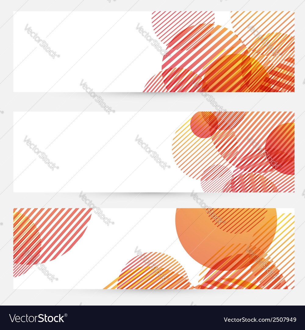 Business cards collection - circle retro pattern vector