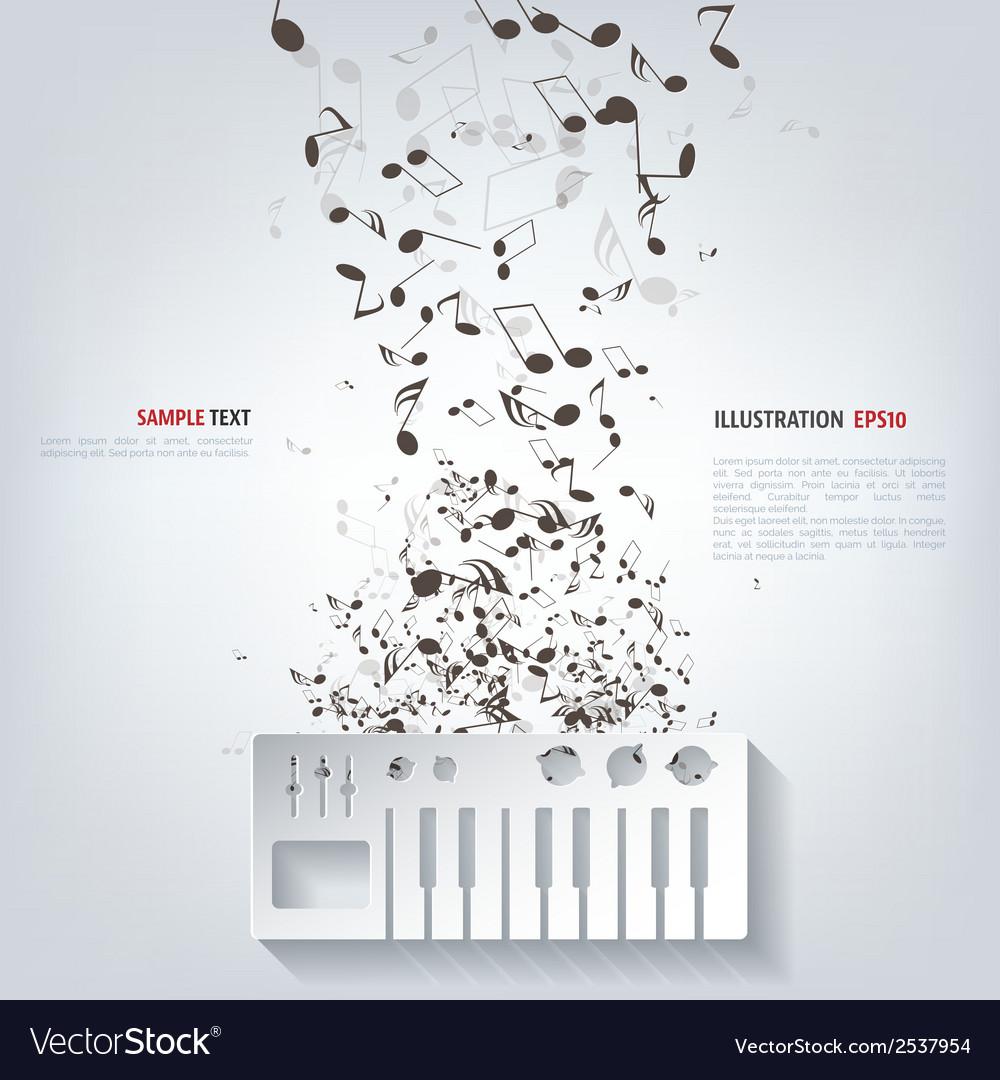 Digital piano synthesizer icon vector