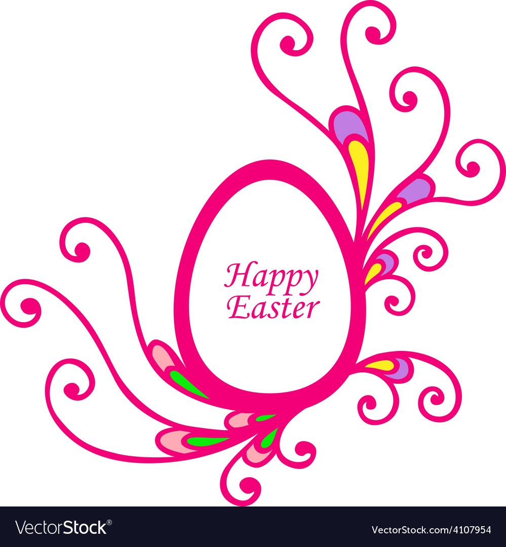 Easter decor vector