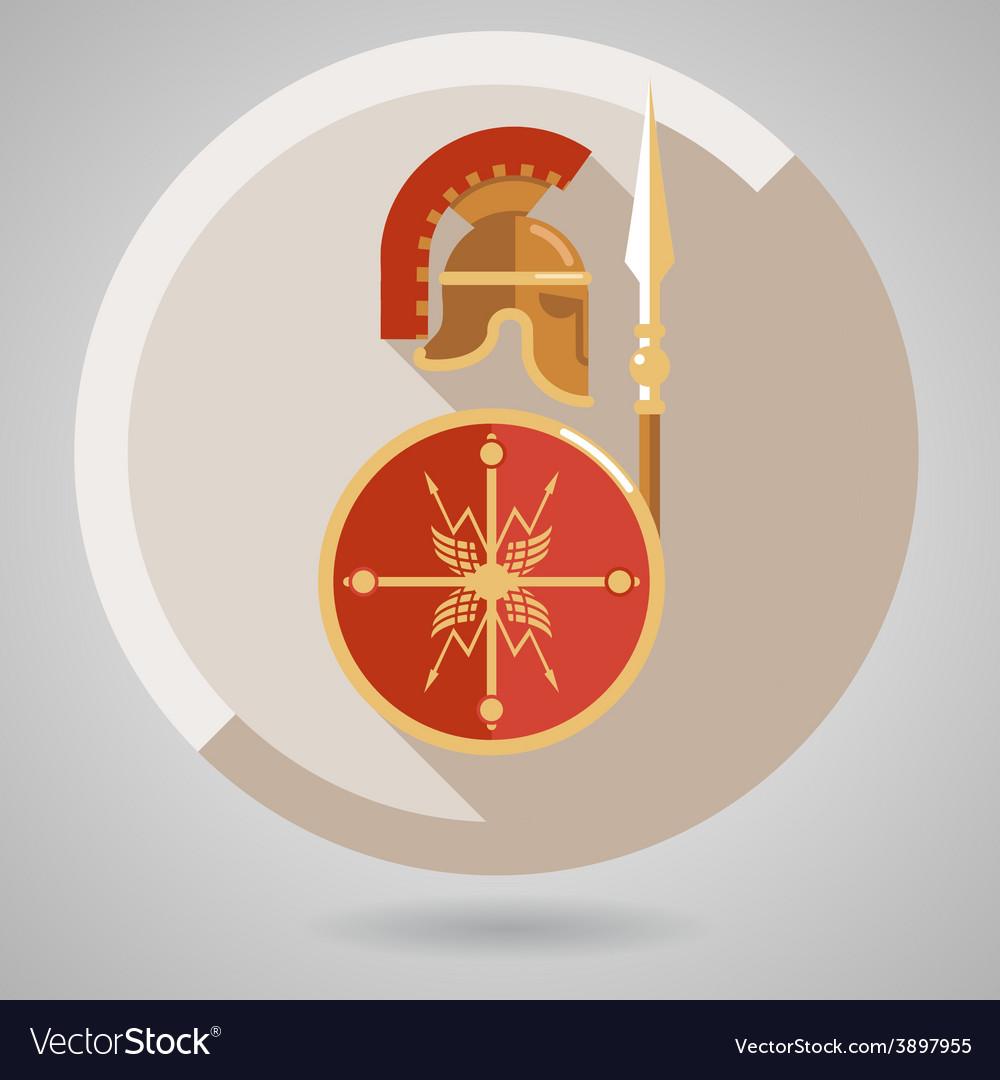 Ancient warrior icon vector