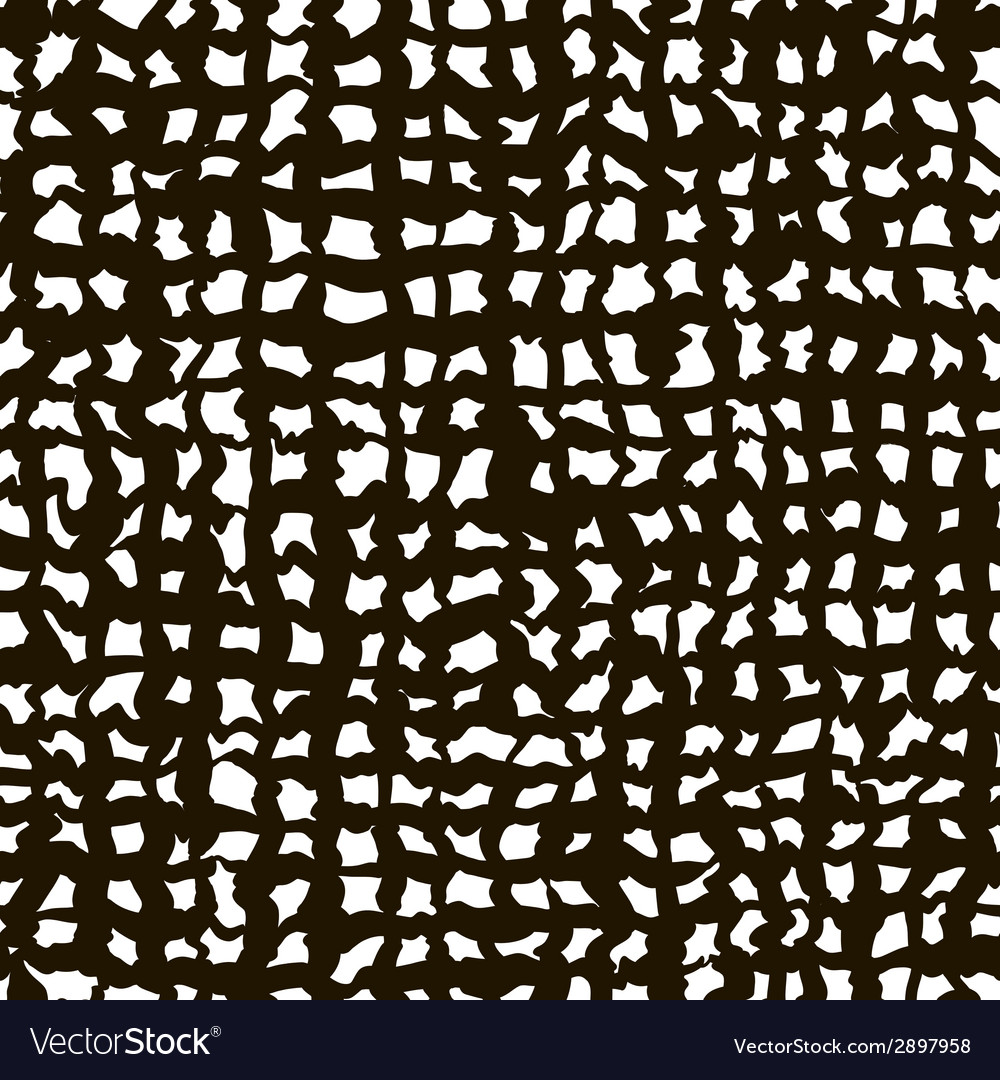 Rough grid black and white texture abstract vector