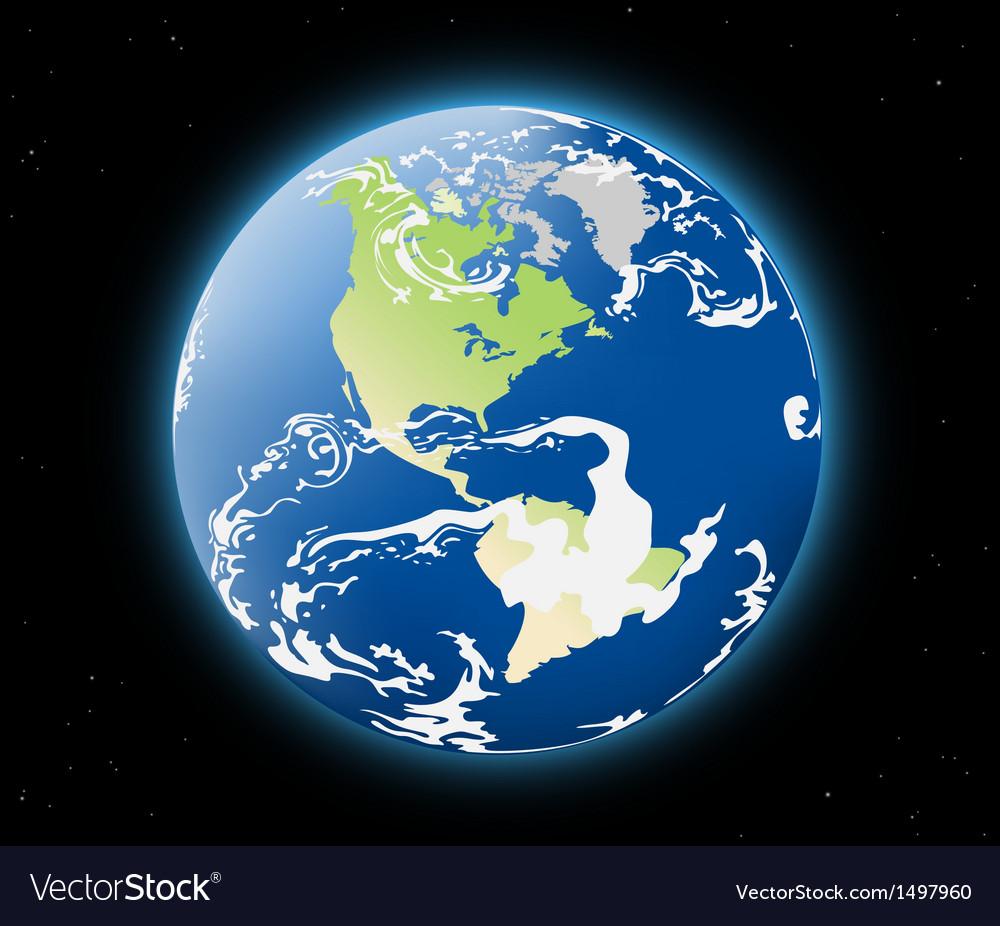 Earth planet vector