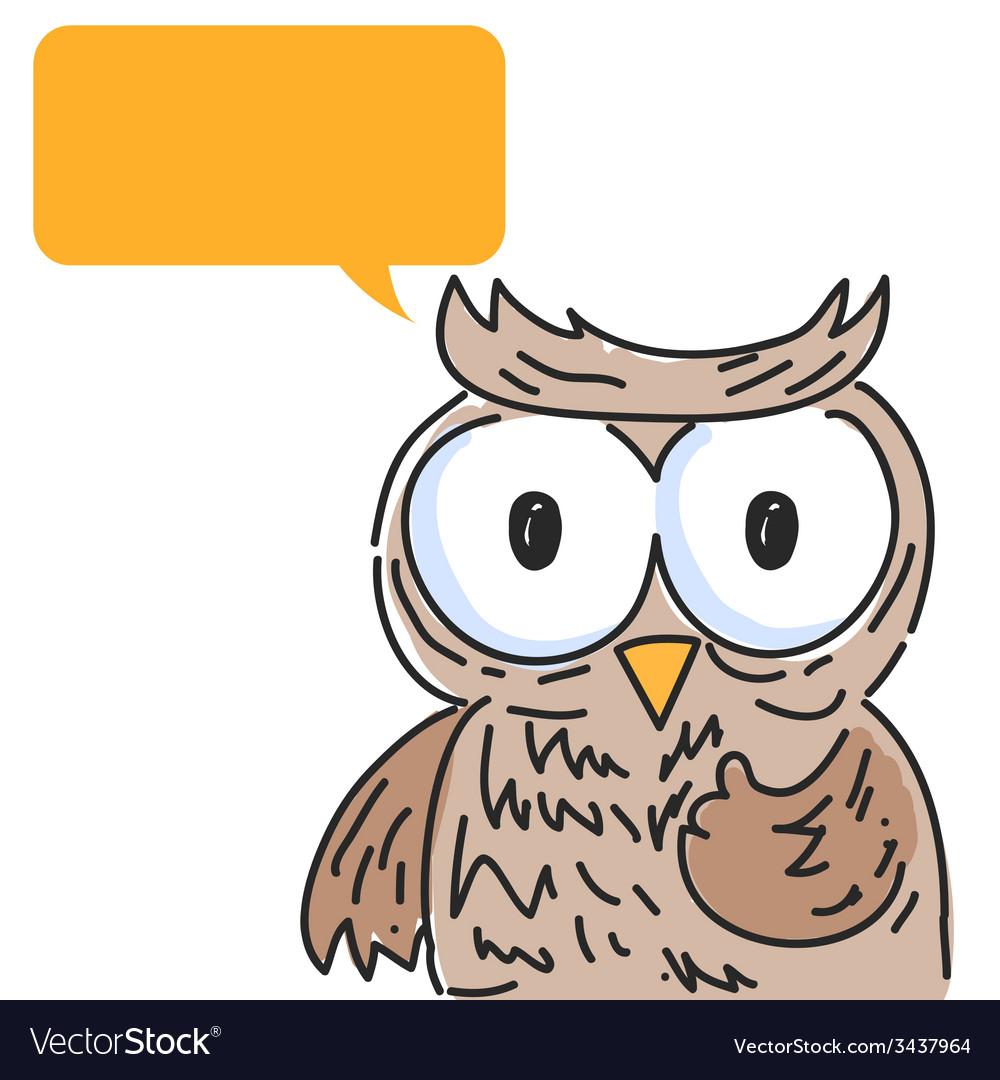 Owl balloon talk vector