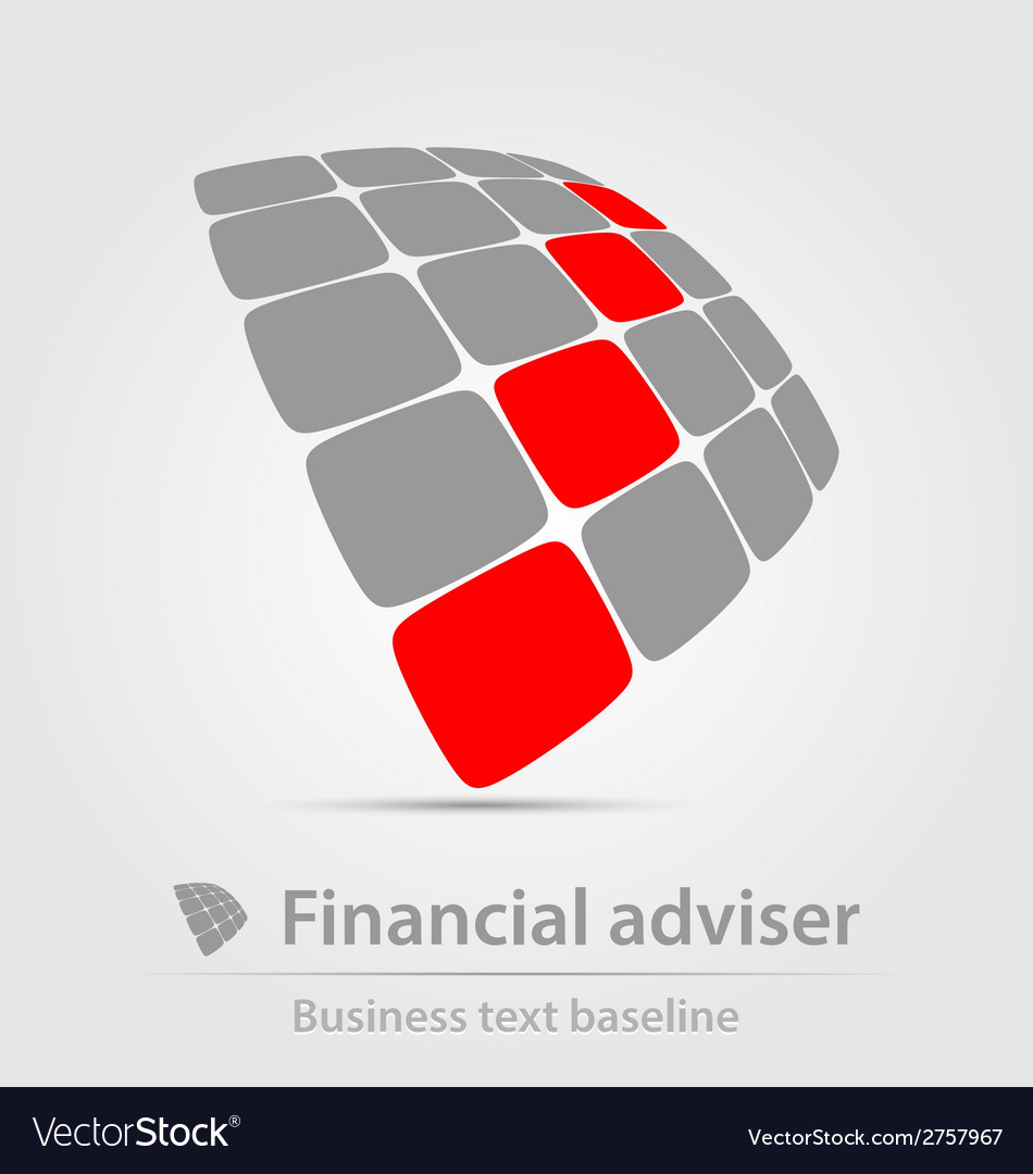 Financial adviser business icon vector