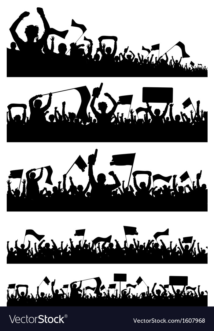 Sport fans silhouettes vector