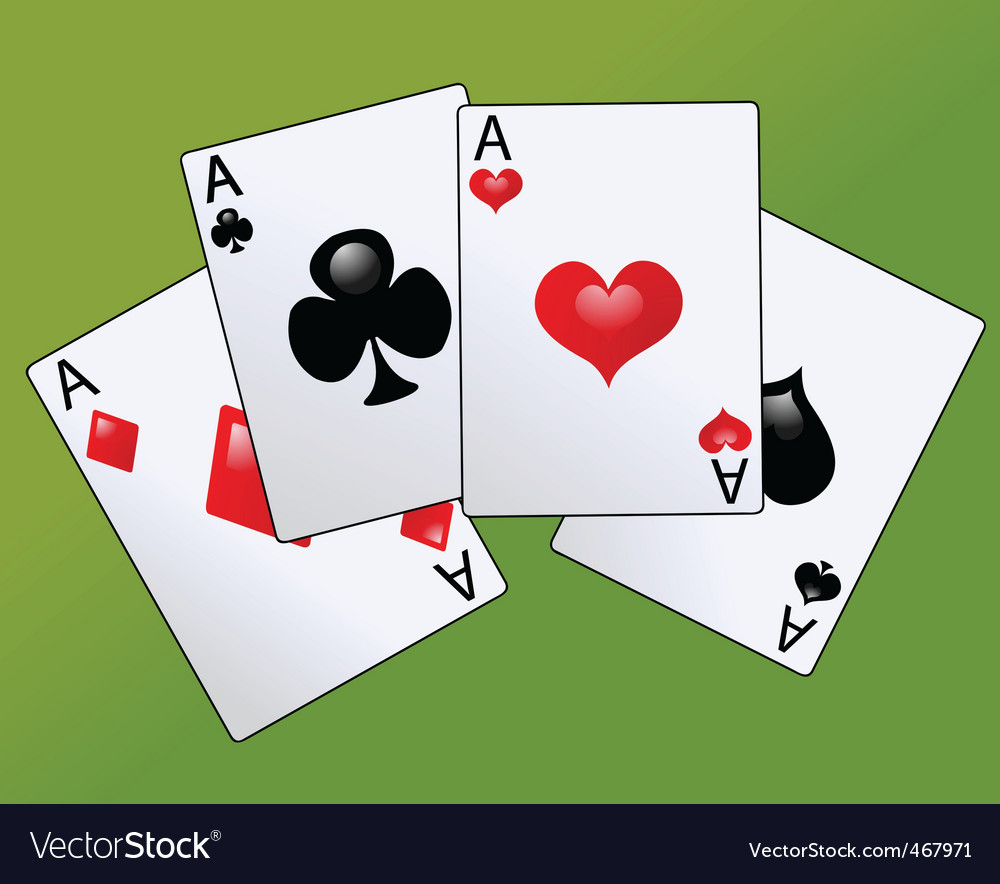 Poker cards vector