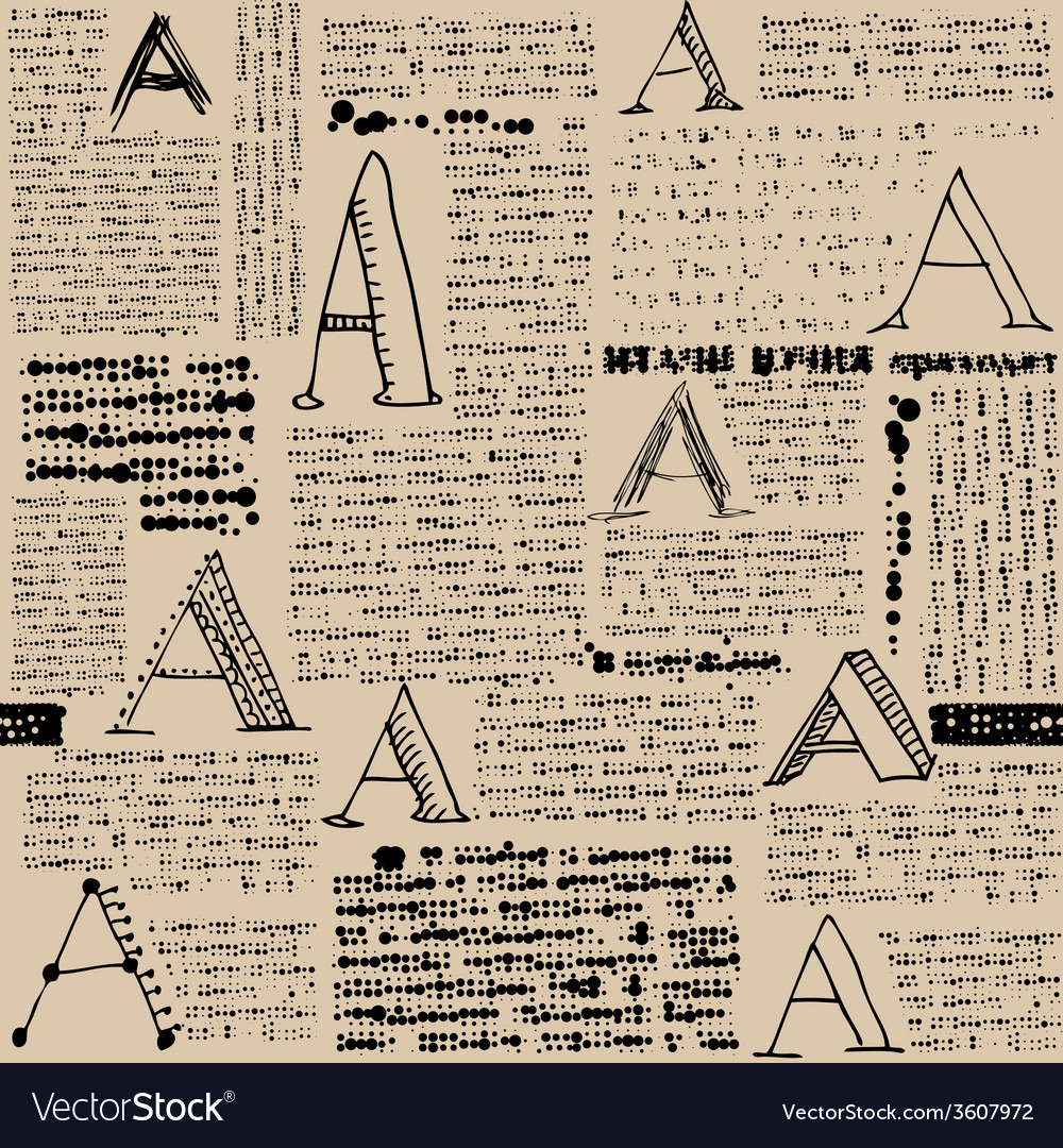 Imitation of newspaper with letters a vector