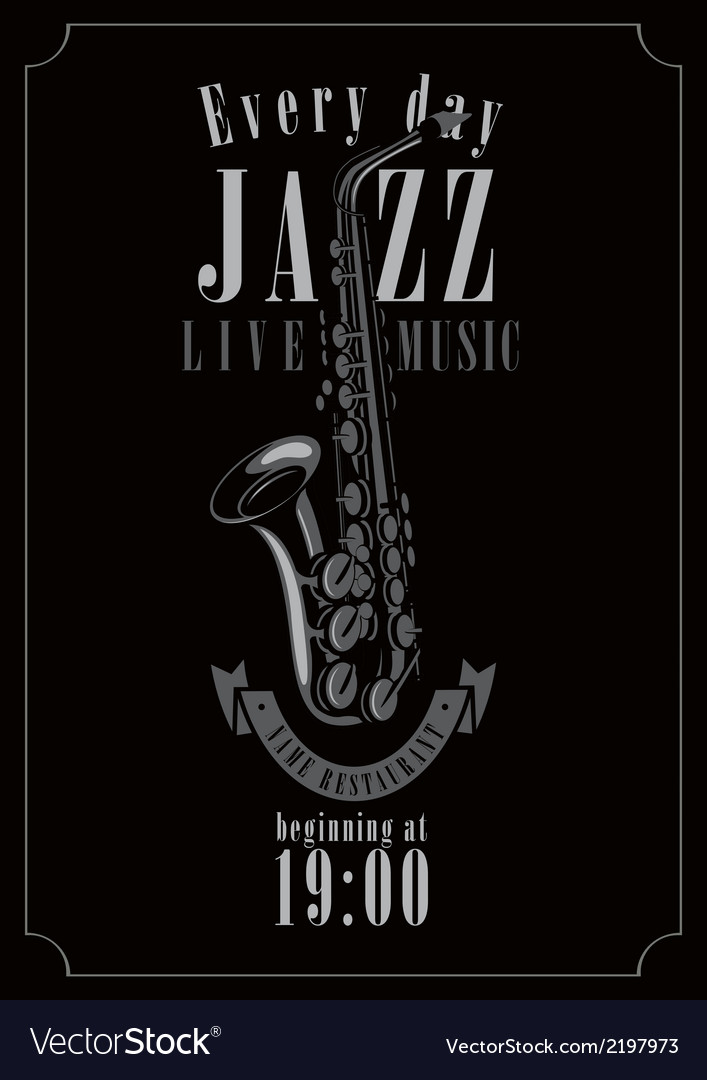 Jazz restaurant vector